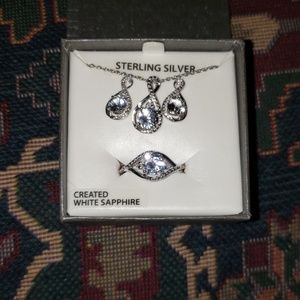 Jewelry - an earring necklace and ring set